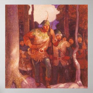 Vintage Robin Hood y sus felices hombres por NC Impresiones