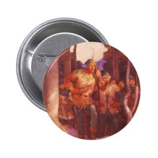 Vintage Robin Hood y sus felices hombres por NC Pin Redondo 5 Cm