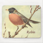 Vintage Robin Mousepad