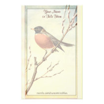 Vintage Robin Stationery