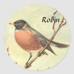Vintage Robin Stickers