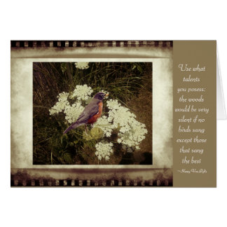 Vintage Robin with Quote note cards
