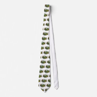 Vintage Robins and Forget-Me-Nots Neck Tie