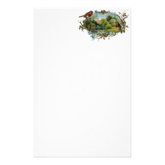 Vintage Robins and Forget-Me-Nots Stationery