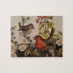 Vintage Robins for Bird Lovers Jigsaw Puzzles