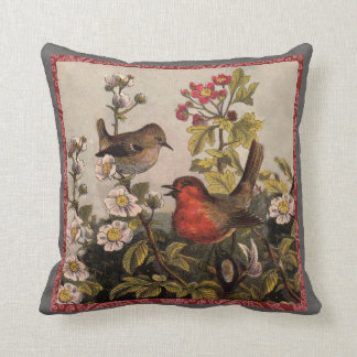 Vintage Robins for Bird Lovers Pillows