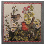 Vintage Robins for Bird Lovers Printed Napkins