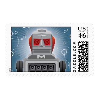 Vintage Robot Postage stamp