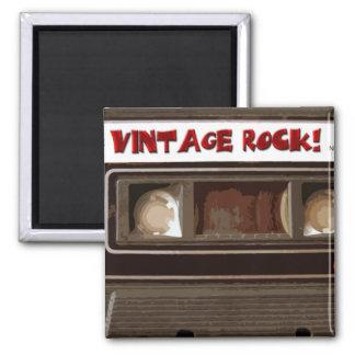 Vintage Rock 2 Inch Square Magnet