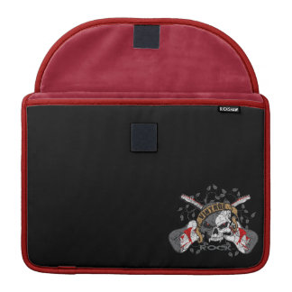 Vintage Rock and Roll Skull and Electric Guitars MacBook Pro Sleeve