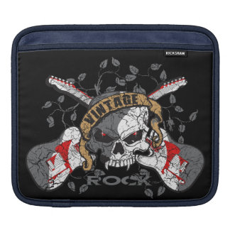 Vintage Rock and Roll Skull and Electric Guitars Sleeve For iPads