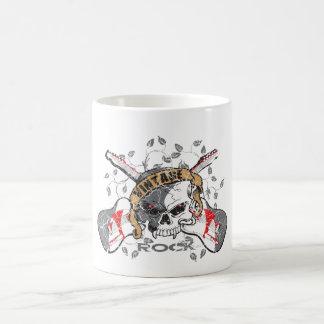 Vintage Rock Skull and Electric Guitars Coffee Mug