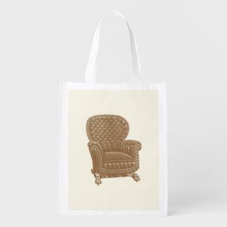 Vintage Rocker Brown Chair 1900s Cool Furniture Grocery Bags