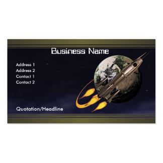 Vintage Rocket Business Card