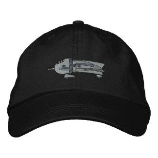 Vintage Rocket Ship Embroidered Baseball Caps