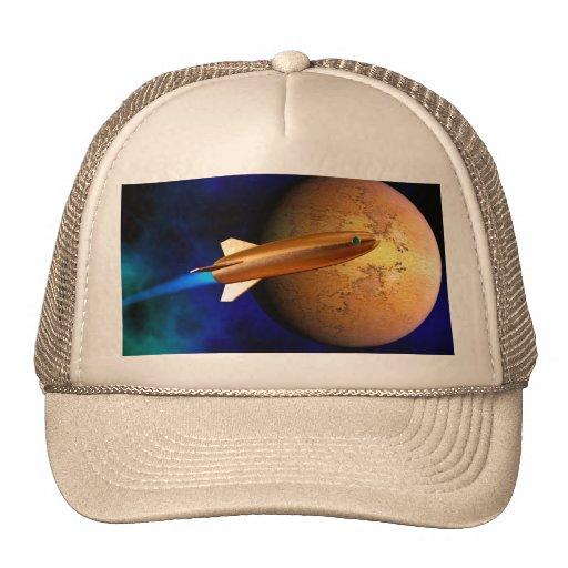 vintage rocket trucker hat