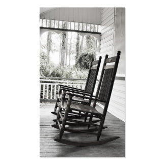 Vintage Rocking Chairs on Porch Double-Sided Standard Business Cards (Pack Of 100)