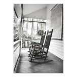 """Vintage Rocking Chairs on Porch 5"""" X 7"""" Invitation Card"""