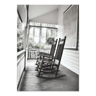 Vintage Rocking Chairs on Porch Invitations