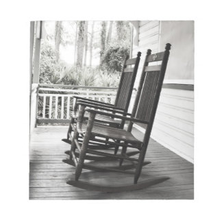 Vintage Rocking Chairs on Porch Notepad