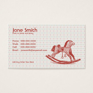 Vintage Rocking Horse Contact Card