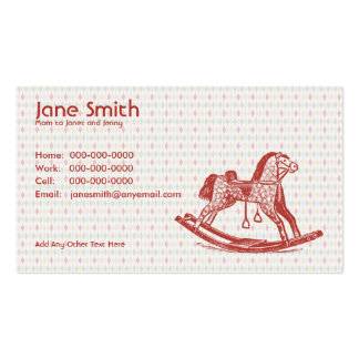 Vintage Rocking Horse Contact Card Double-Sided Standard Business Cards (Pack Of 100)