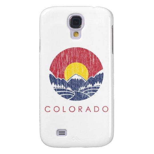 Vintage Rocky Mountain Colorado Sunset Logo Galaxy S4 Cover