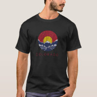 Vintage Rocky Mountain Colorado Sunset Logo T-Shirt