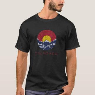 Vintage Rocky Mountain Colorado Sunset Logo T-Shirt