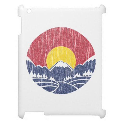 Vintage Rocky Mountain Sunset Logo Cover For The iPad 2 3 4