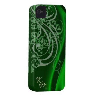 Vintage Rococo Green Silk Barely There Case