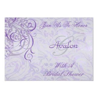 Vintage Rococo Purple Bridal Shower Invitation