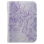 Vintage Rococo Purple Scroll Kindle Case