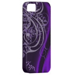 Vintage Rococo Purple Silk Barely There Case iPhone 5 Case