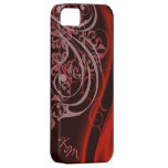 Vintage Rococo Red Silk Barely There Case iPhone 5 Cover