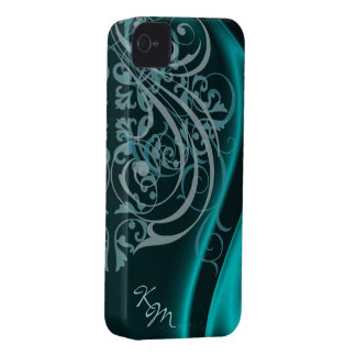 Vintage Rococo Teal Silk Barely There Case