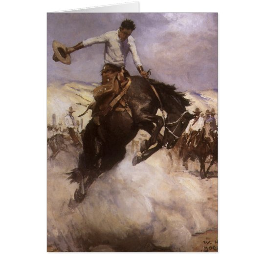 Vintage Rodeo Cowboy, Breezy Riding by WHD Koerner Card