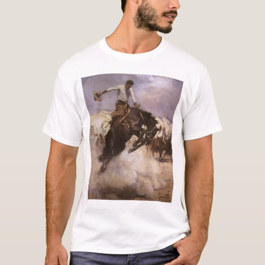 Vintage Rodeo Cowboy, Breezy Riding by WHD Koerner T-Shirt