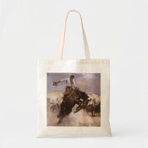 Vintage Rodeo Cowboy, Breezy Riding by WHD Koerner Tote Bag