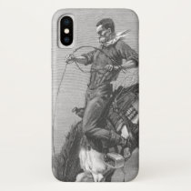 Vintage Rodeo Cowboys, Bucking Bronco by Remington iPhone X Case