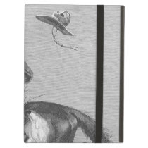Vintage Rodeo Cowboys, Bucking Bronco by Remington Cover For iPad Air