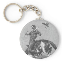 Vintage Rodeo Cowboys, Bucking Bronco by Remington Keychain