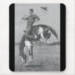Vintage Rodeo Cowboys, Bucking Bronco by Remington Mouse Pad