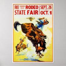 Vintage Rodeo Poster Restored