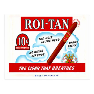 Vintage Roi-Tan Cigra Box Art Postcard