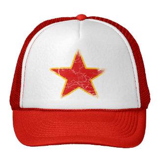 Vintage rojo comunista de la estrella gorra