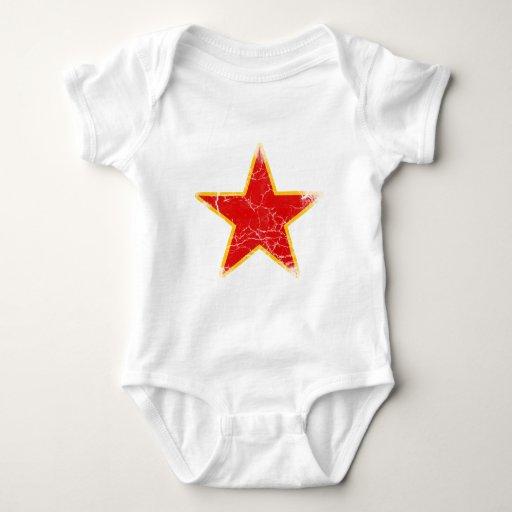 Vintage rojo comunista de la estrella remeras