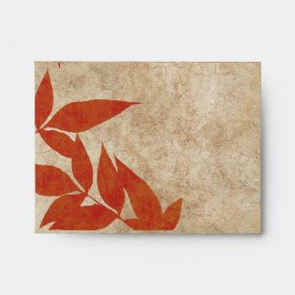 Vintage rojo de las hojas de otoño sobre