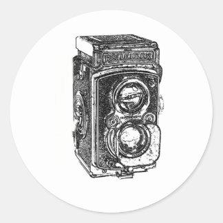 Vintage Rolleiflex Camera Classic Round Sticker