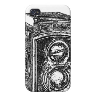 Vintage Rolleiflex Camera Cover For iPhone 4